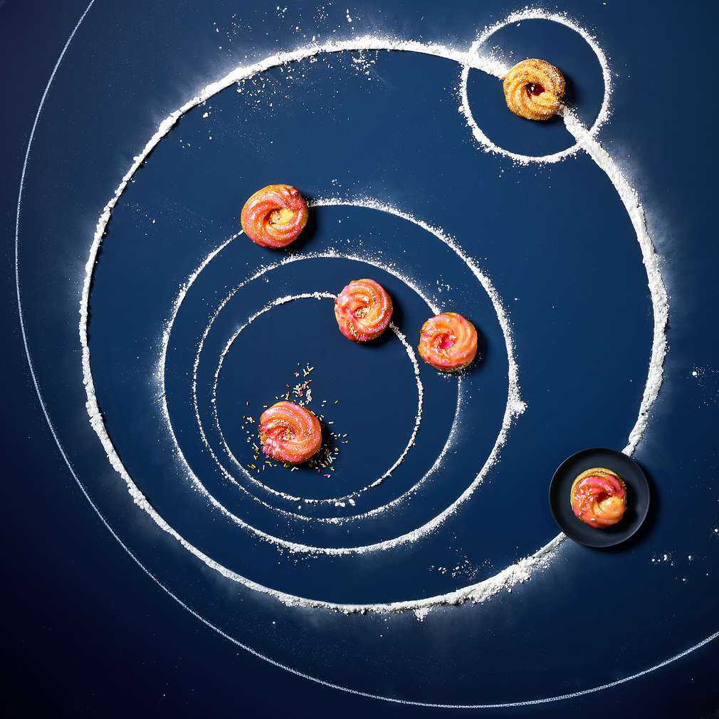 Abbildung des Rezepts Kosmische Mini-Kringel