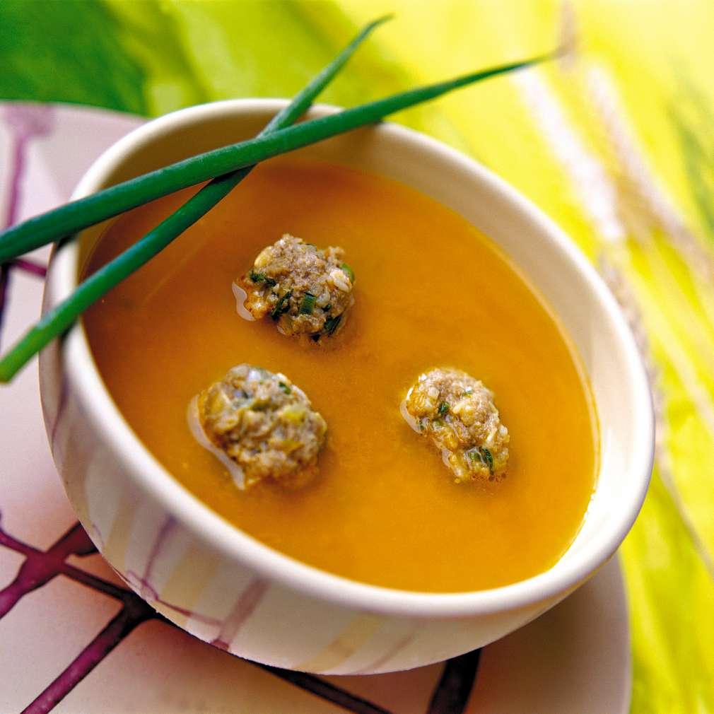 Изобразяване на рецептата Супа топчета с булгур