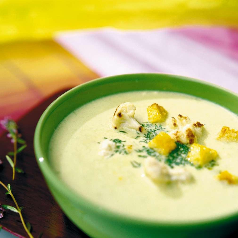 Изобразяване на рецептата Супа от печен карфиол