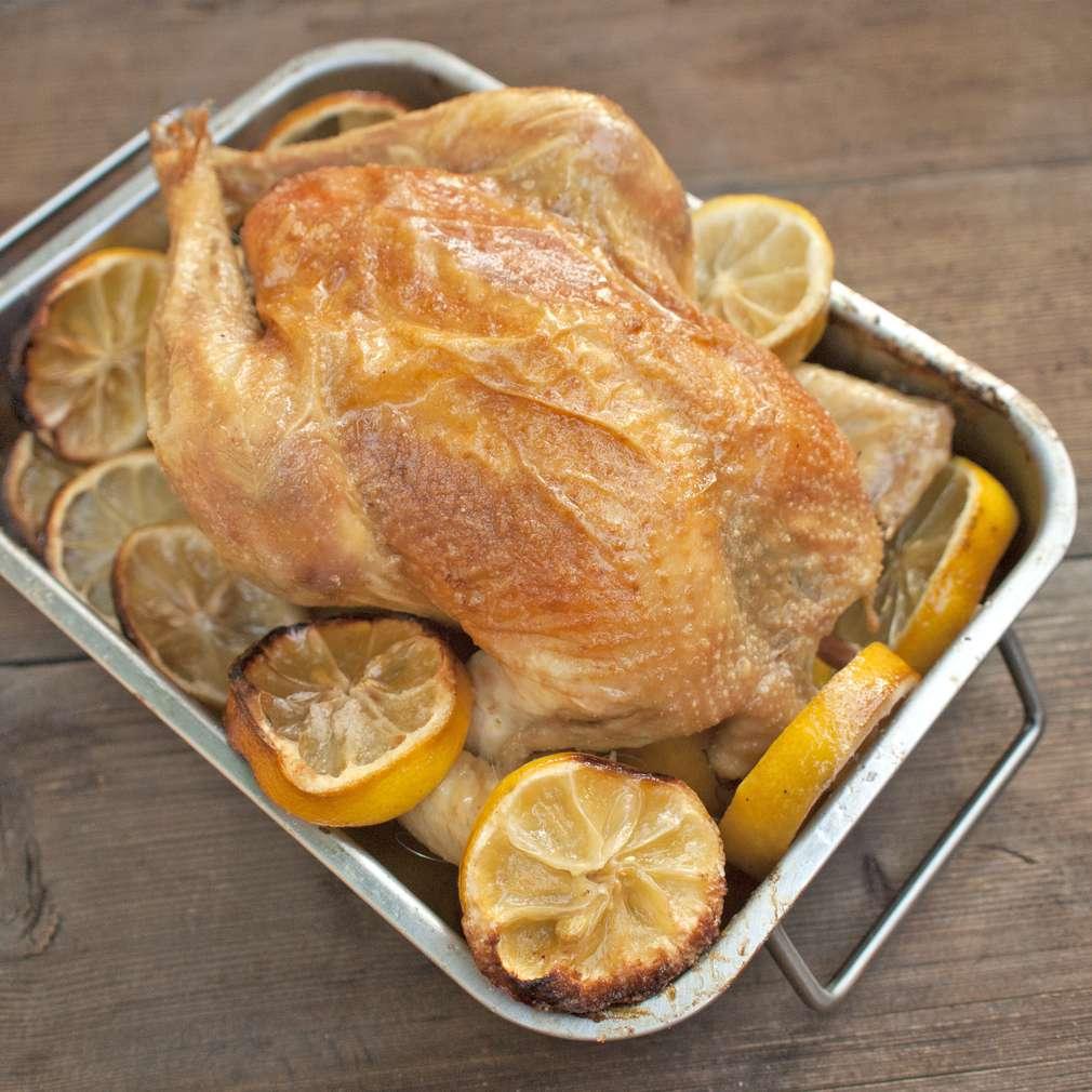 Zobrazit Pečené kuře na citronech receptů