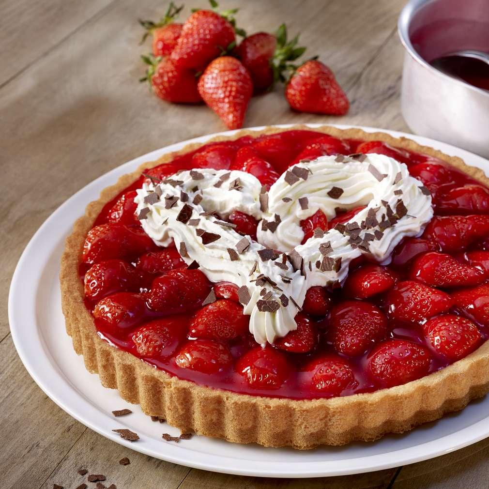 Изобразяване на рецептата Бърз ягодов сладкиш