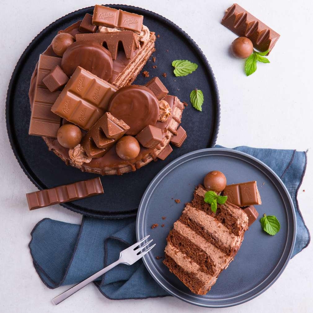 Abbildung des Rezepts Schokoladentorte mit Drip (Semi Naked Cake)
