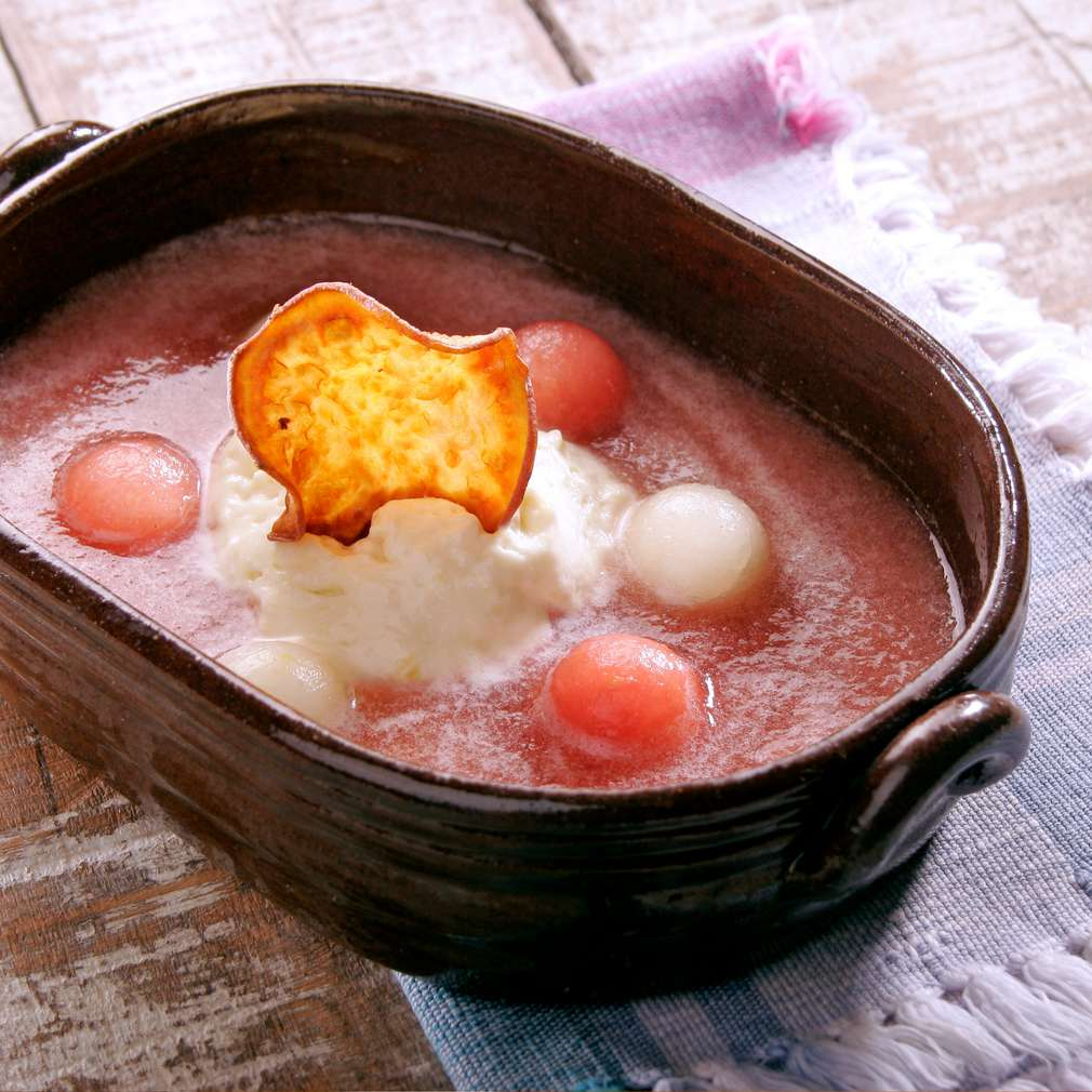 Изобразяване на рецептата Студена супа от диня