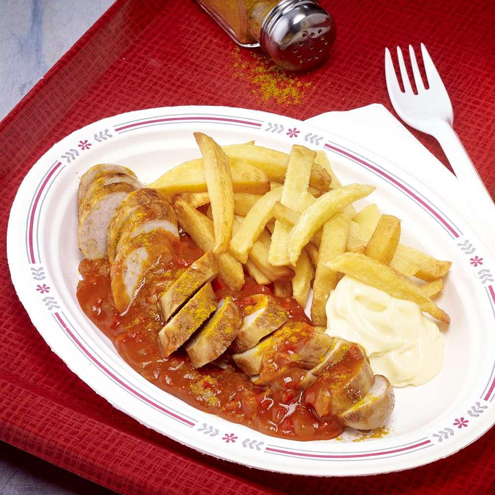 Abbildung des Rezepts Currywurst mit Pommes