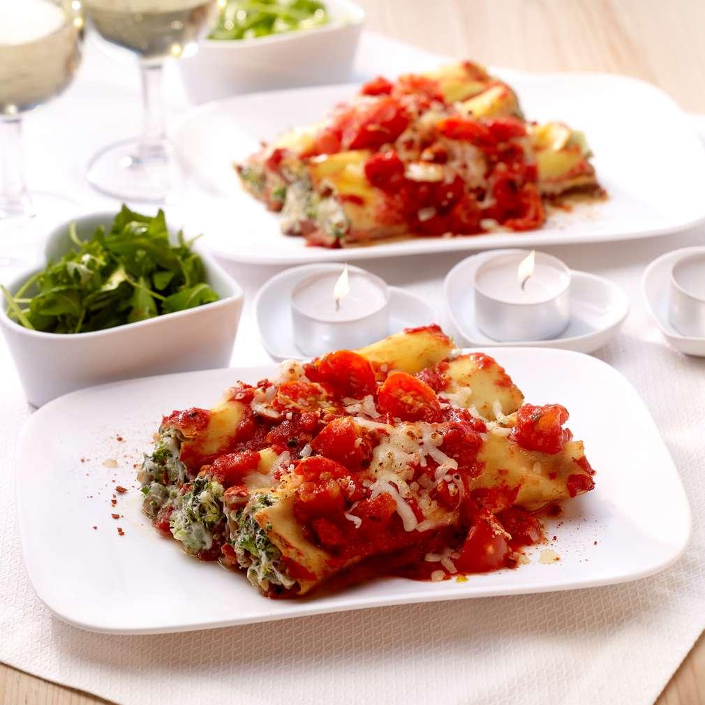 Abbildung des Rezepts Cannelloni mit Walnuss-Brokkoli-Füllung