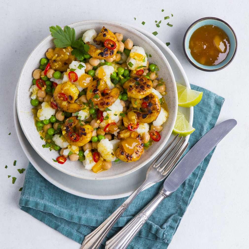 Zobrazenie receptu Karfiolový šalát s krevetami