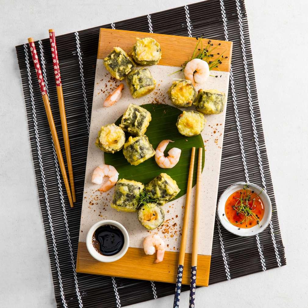 Zdjęcie przepisu Smażone sushi z krewetkami