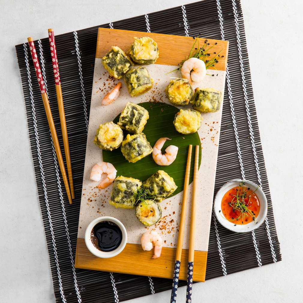 Abbildung des Rezepts Frittiertes Garnelen-Sushi