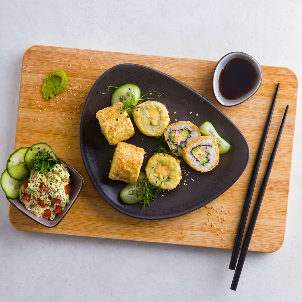 Zobrazenie receptu Chrumkavé lososové sushi