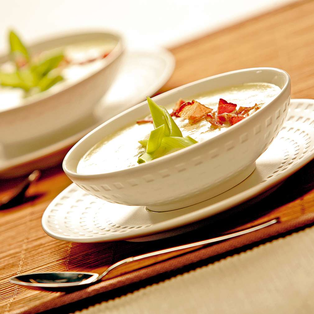 Изобразяване на рецептата Крем супа от картофи, праз и бекон