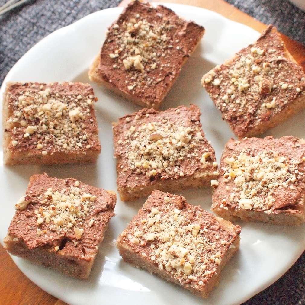 Zobrazit Ořechové řezy s krémem receptů
