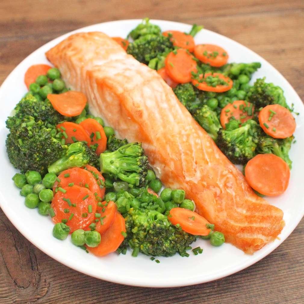 Zobrazit Losos se sladkokyselou zeleninou receptů