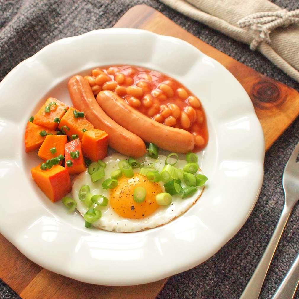 Zobrazit Anglická snídaně s kari dýní receptů