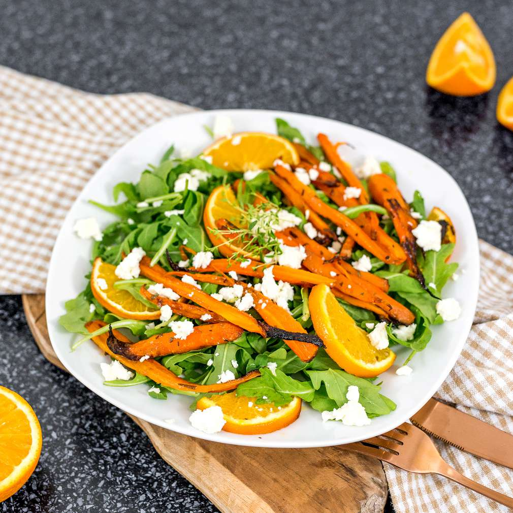 Zobrazenie receptu Šalát s pečenou mrkvou a pomarančom