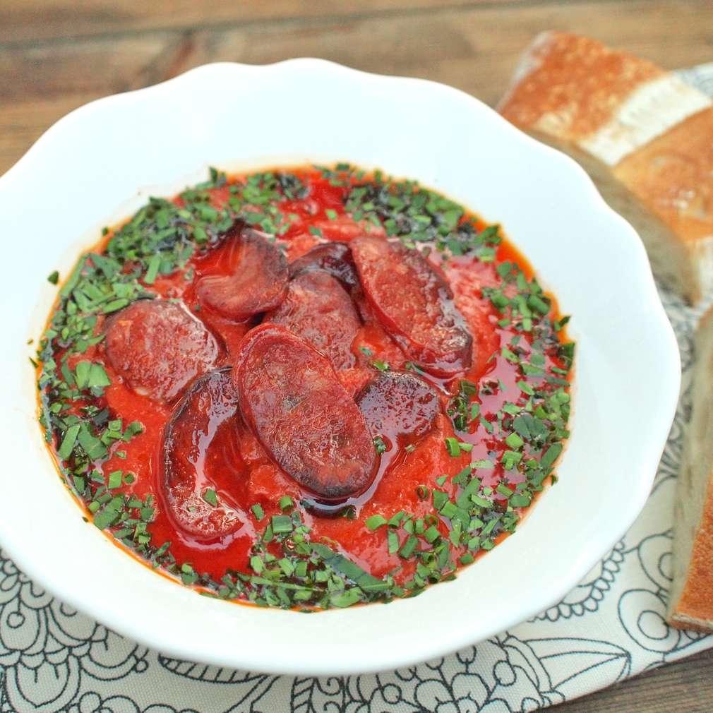 Zobrazit Paprikový krém s chorizem receptů