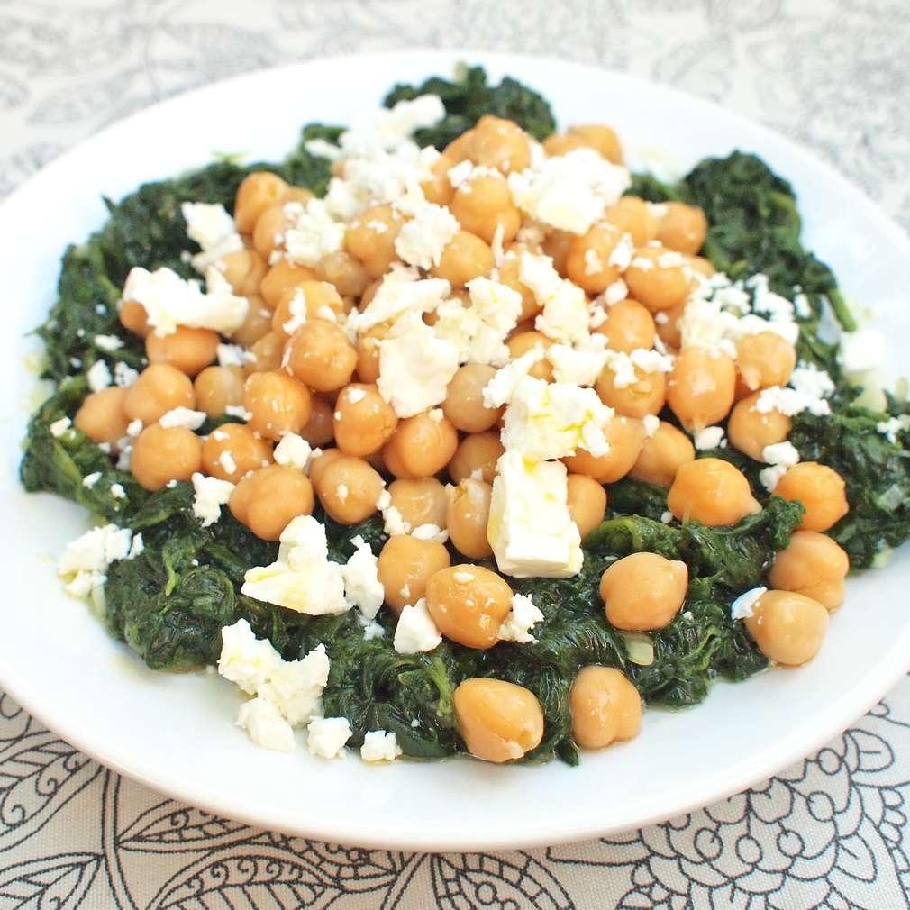 Zobrazit Cizrna se špenátem a kozím sýrem receptů