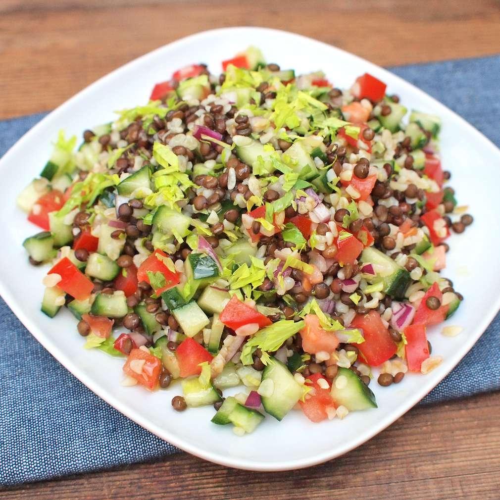 Zobrazit Čočkový salát s bulgurem receptů