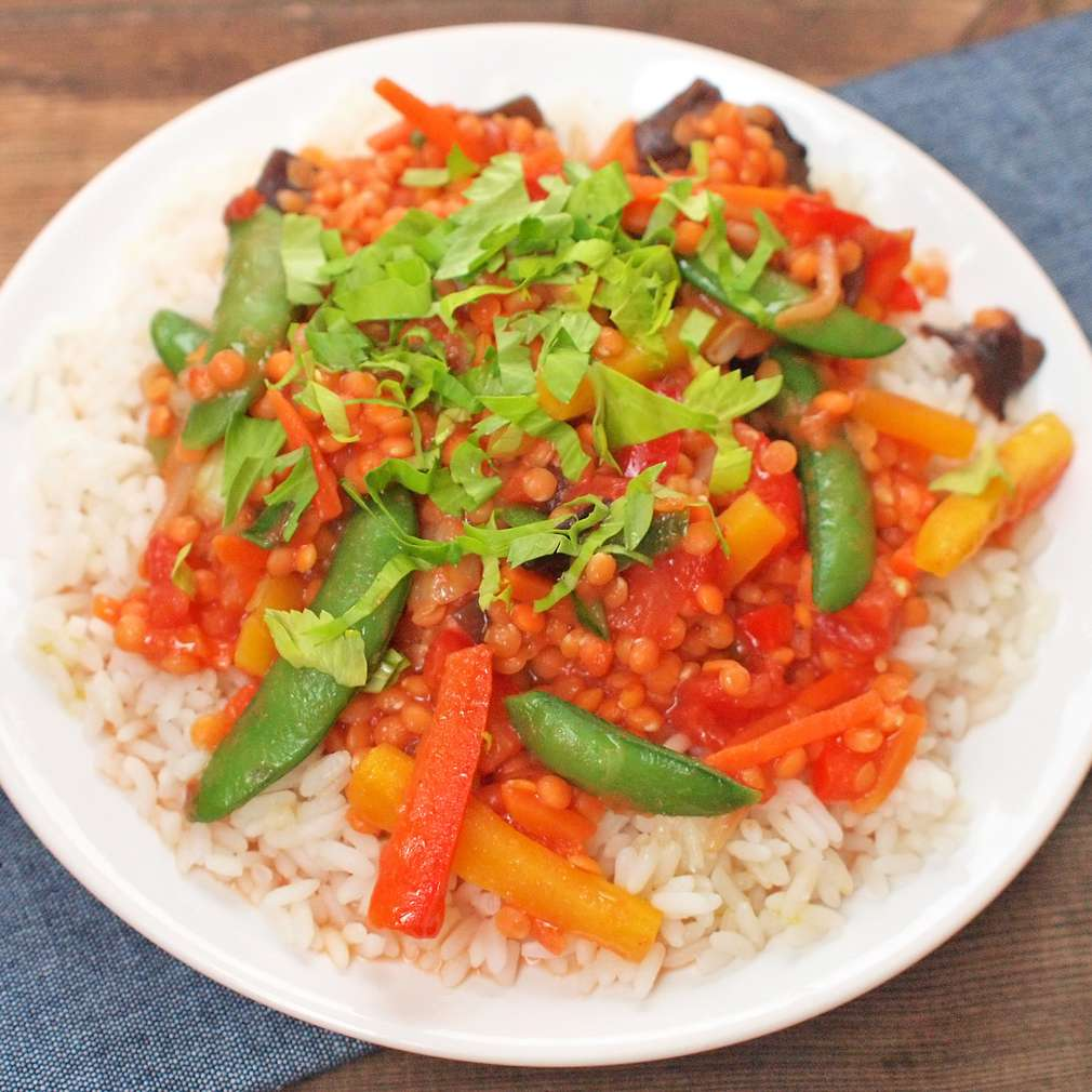 Zobrazit Čočkové kari se zeleninou receptů