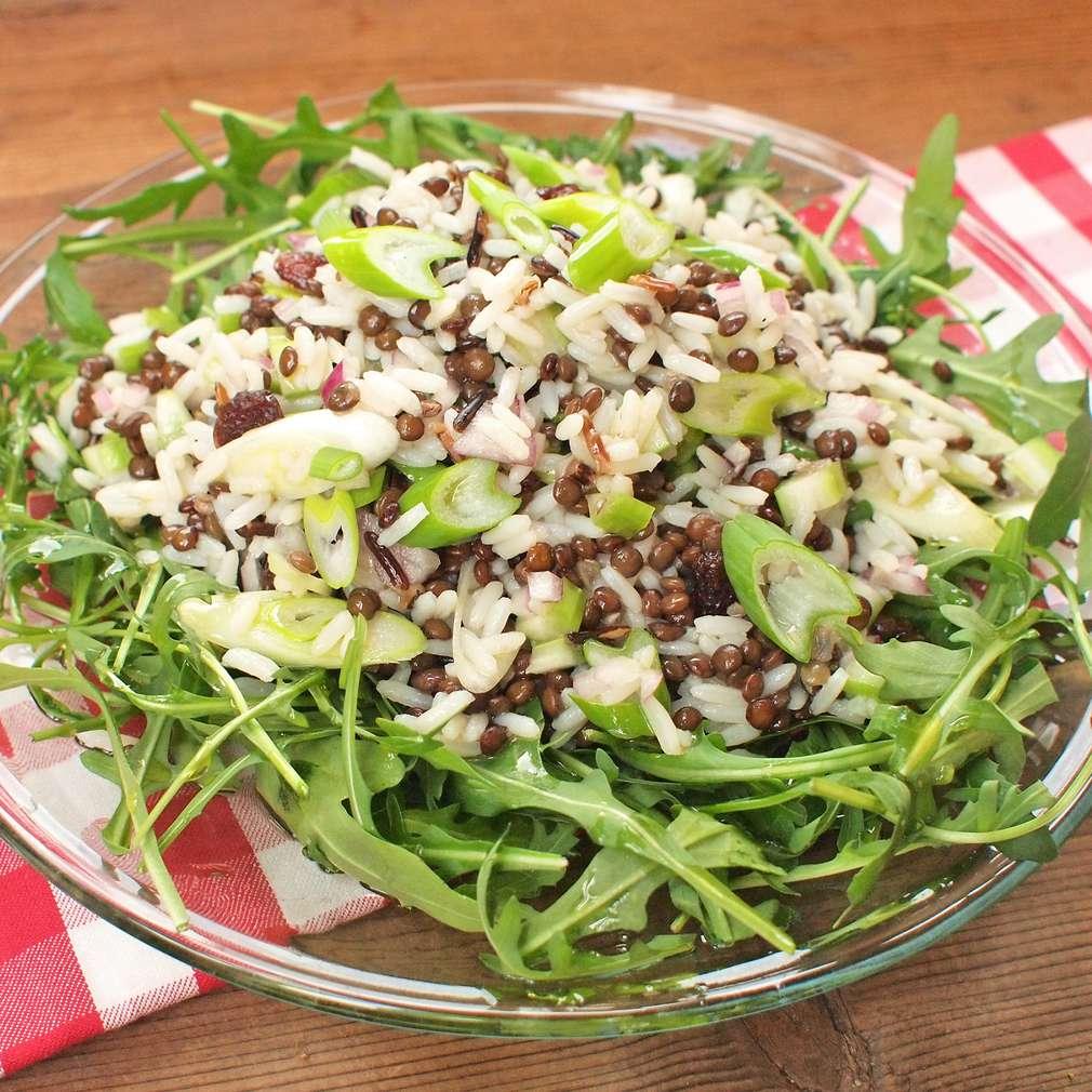 Zobrazit Čočkový salát s divokou rýží receptů