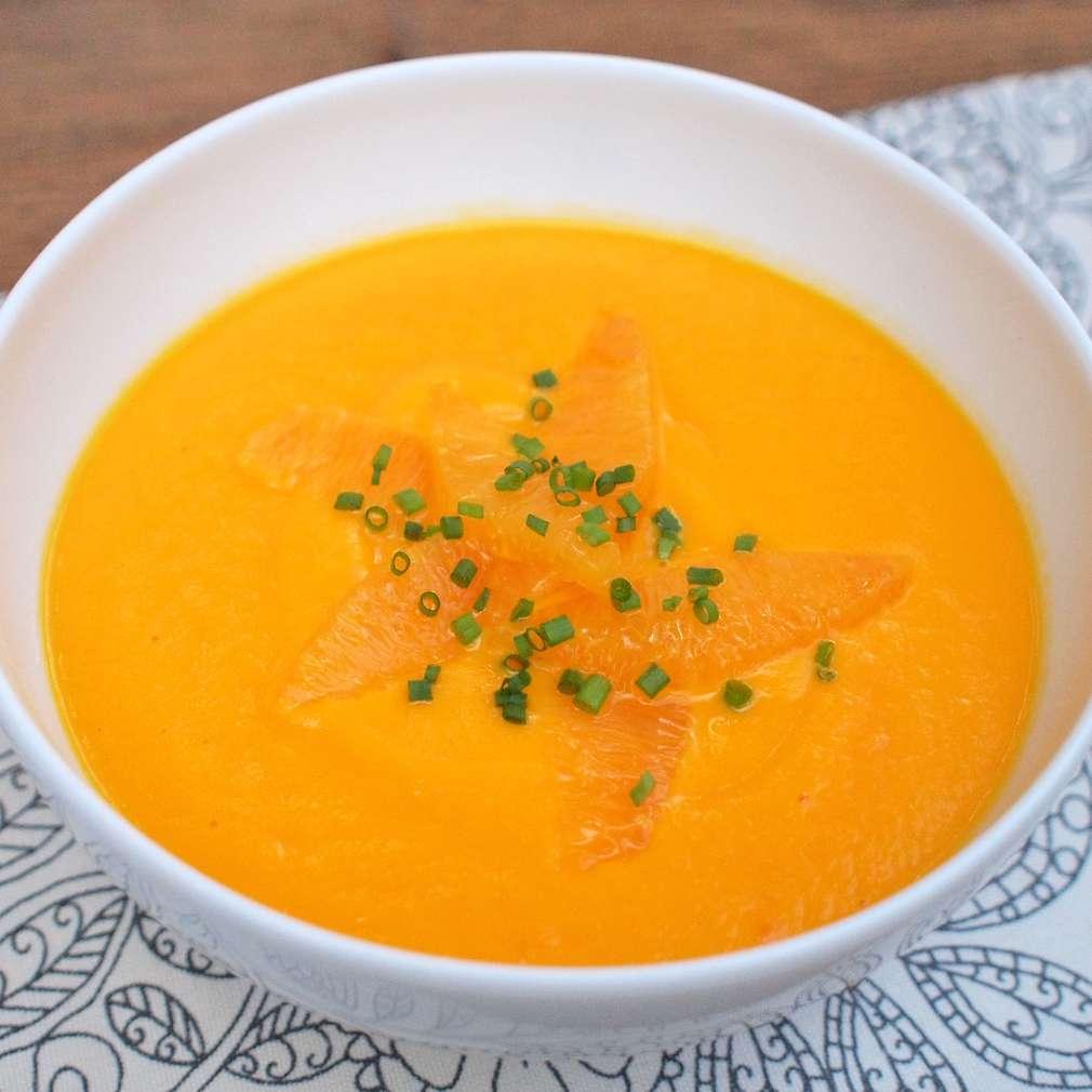 Zobrazit Mrkvový krém se zázvorem a pomeranči receptů