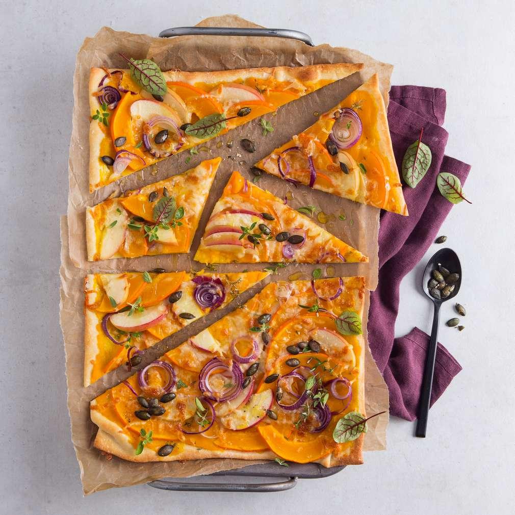 Abbildung des Rezepts Herbstliche Kürbis-Pizza