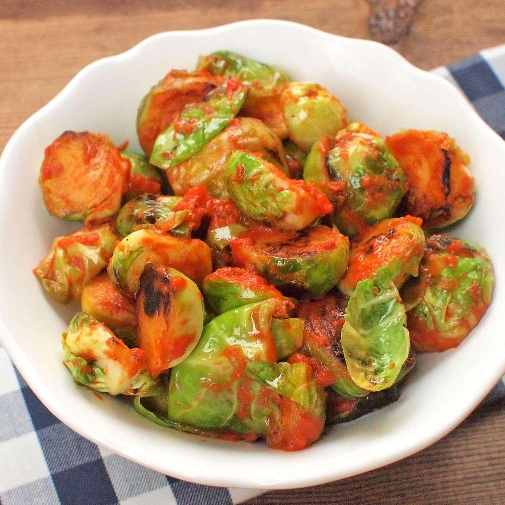 Zobrazit Pečené kapustičky s paprikovým pestem receptů