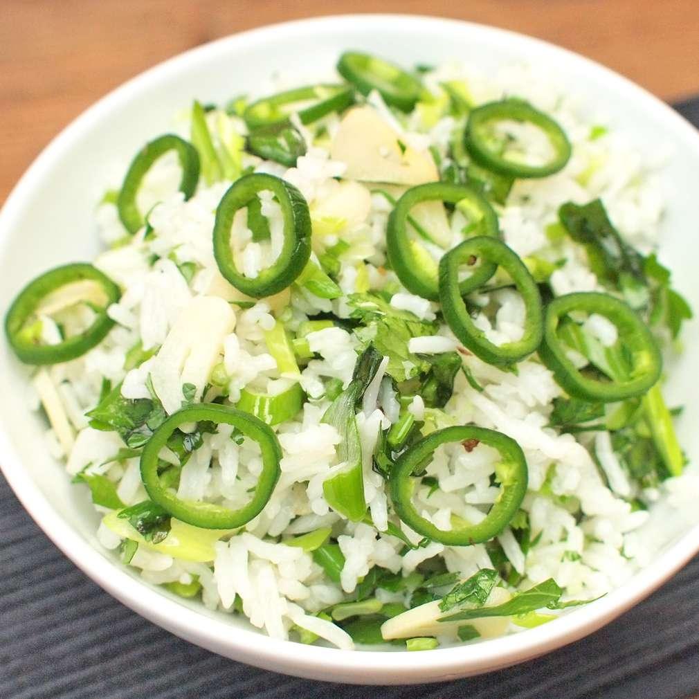Zobrazit Zelená mexická rýže receptů