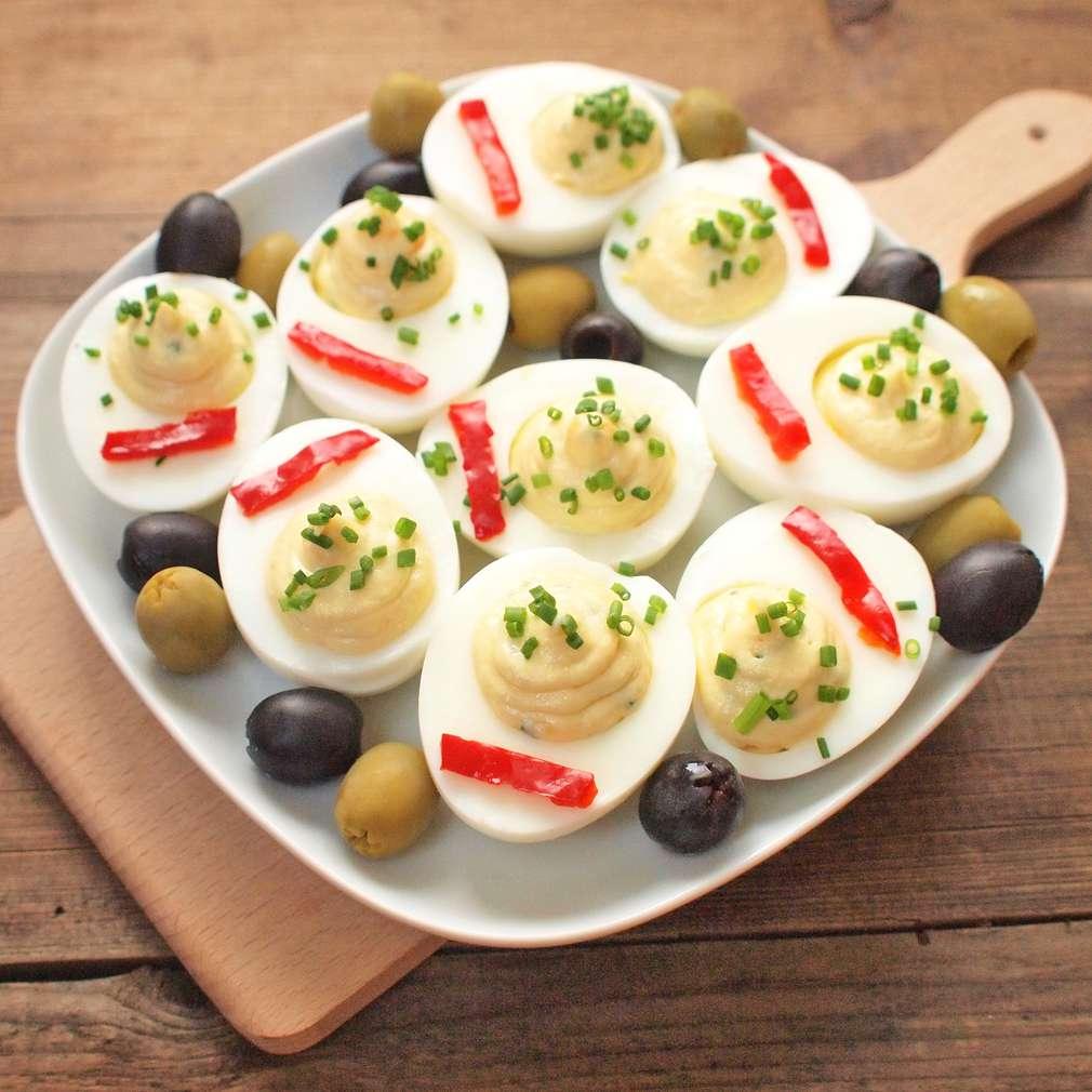 Zobrazit Nadívaná bylinková vejce receptů