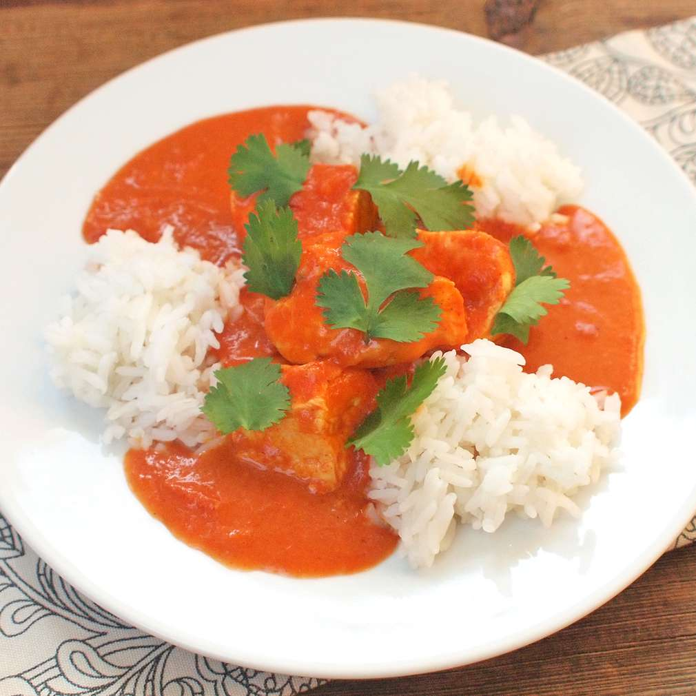 Zobrazit Indické máslové kuře s rajčaty receptů