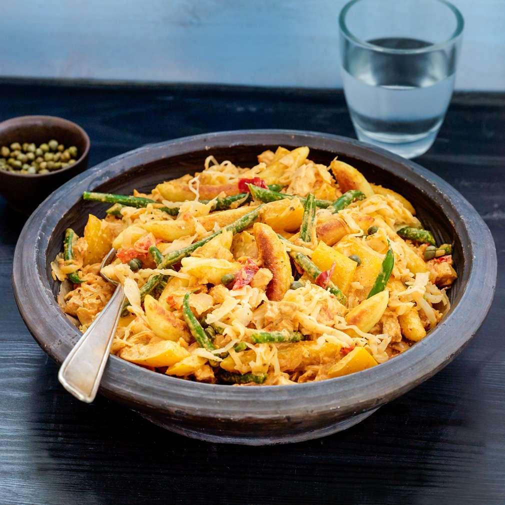 Imaginea rețetei Tigaie de gnocchi și legume