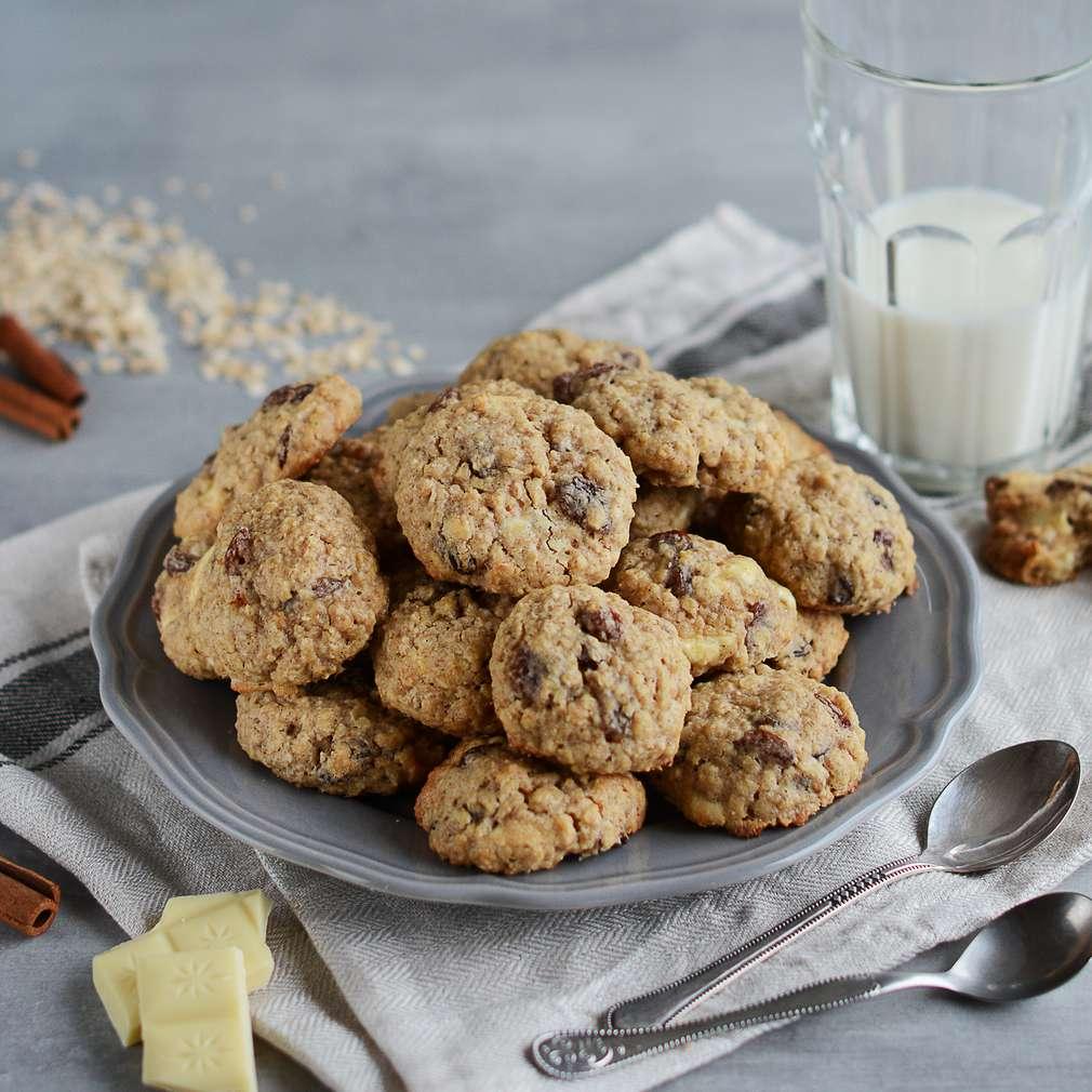 Zobrazenie receptu Cookies s ovsenými vločkami a bielou čokoládou