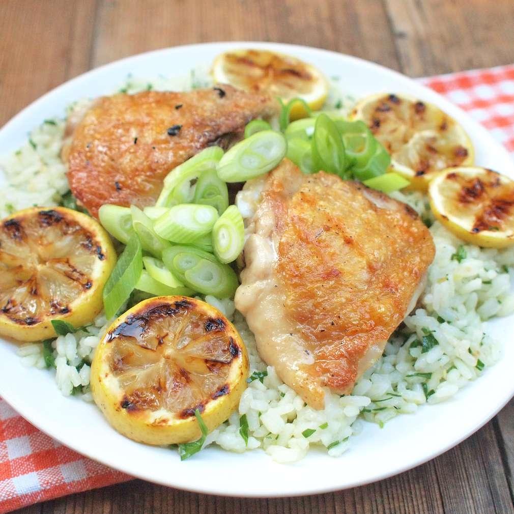 Zobrazit Grilované kuře s citronovou rýží receptů