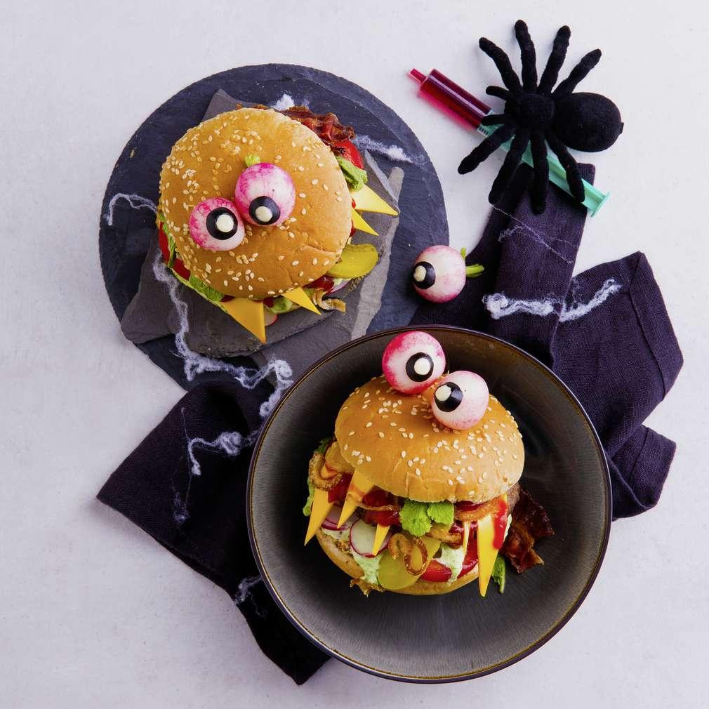 Abbildung des Rezepts Monster-Halloween-Burger