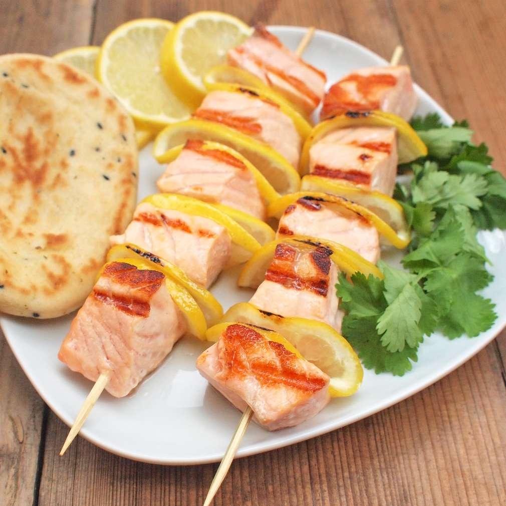 Zobrazit Grilovaný špíz z lososa receptů