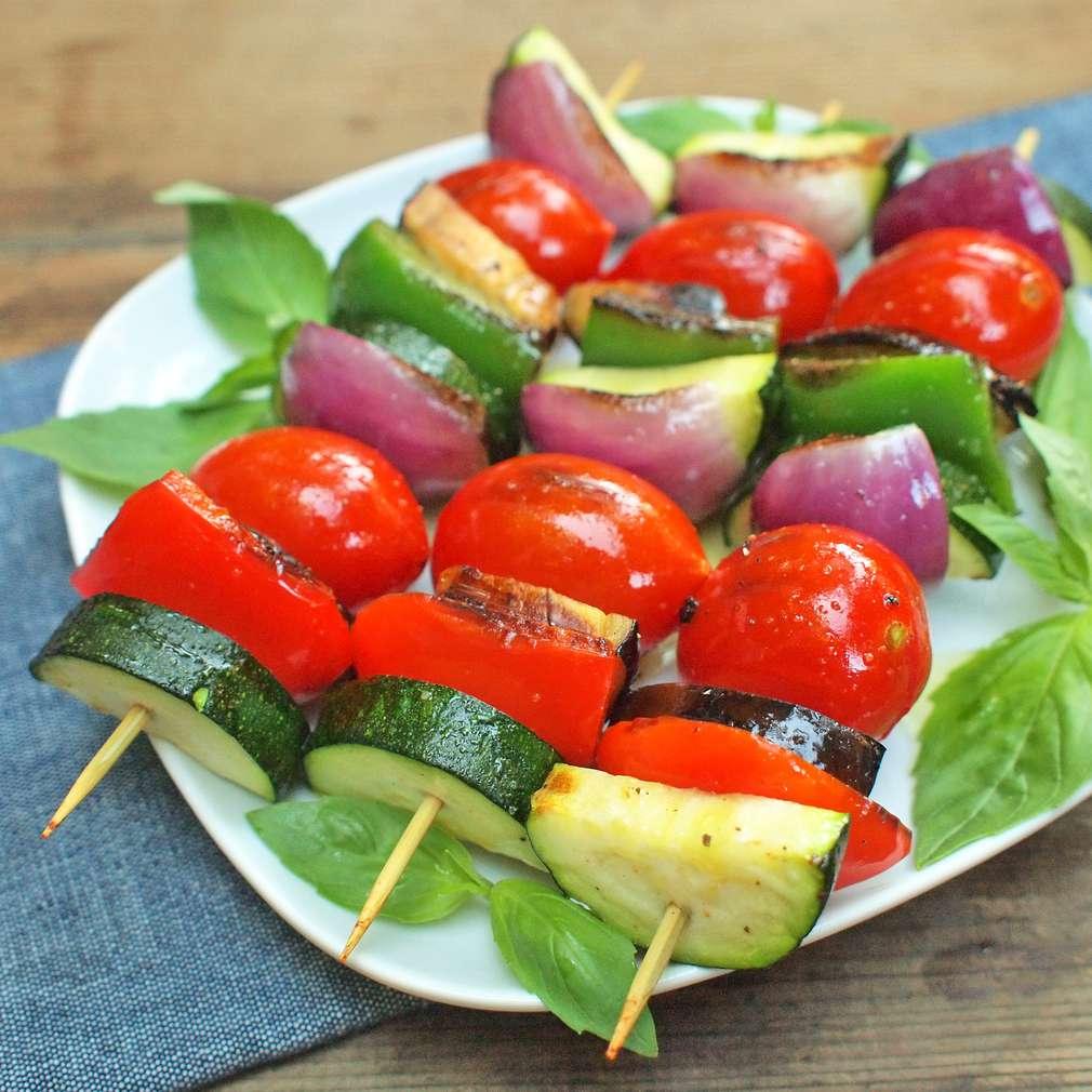 Zobrazit Zeleninový špíz na grilu receptů