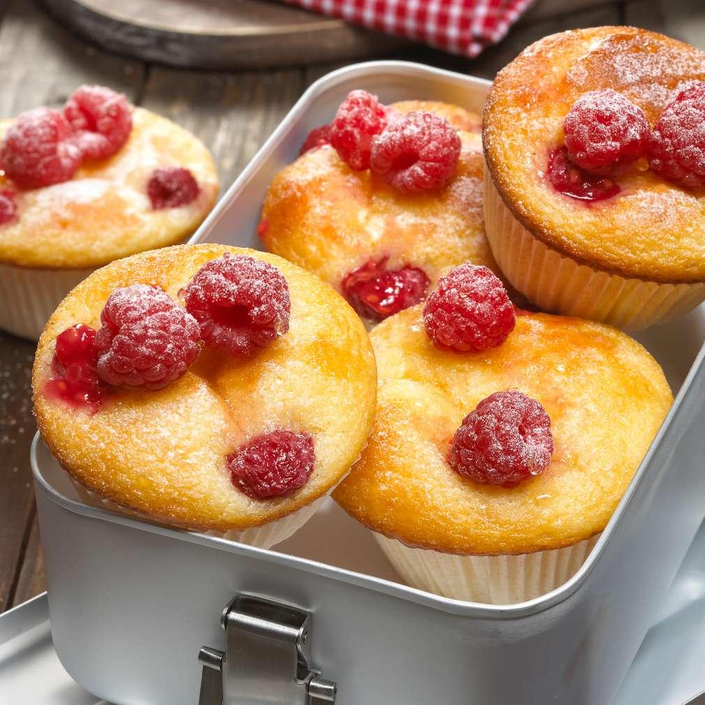 Zobrazit Rychlé malinové muffiny receptů