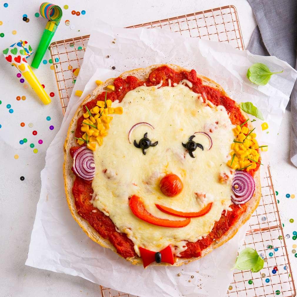 Abbildung des Rezepts Lustiges Pizzagesicht