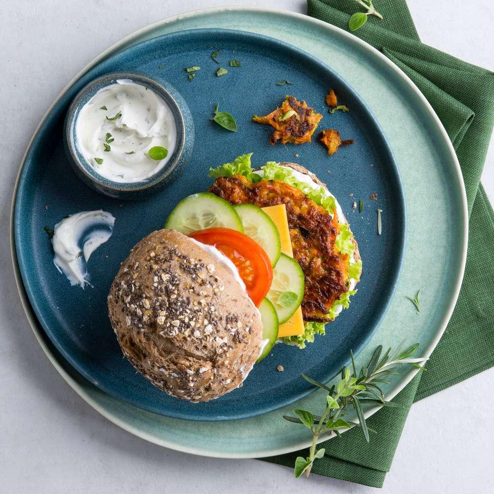Abbildung des Rezepts Möhren-Zucchini-Burger