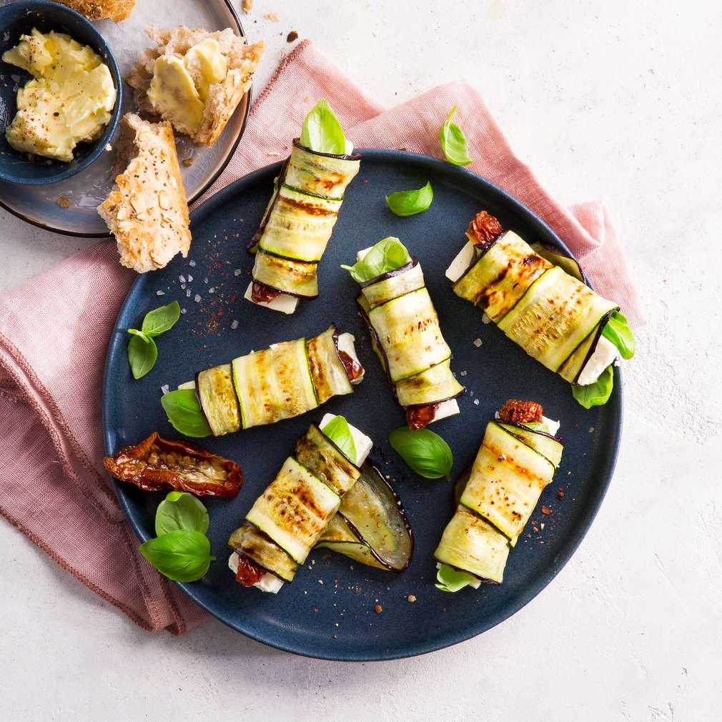 Abbildung des Rezepts Auberginen-Zucchini-Röllchen