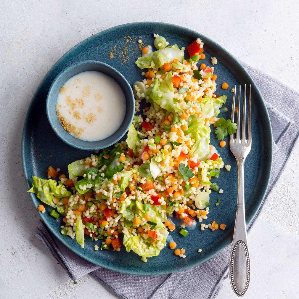Abbildung des Rezepts Lauwarmer Linsen-Hirse-Salat