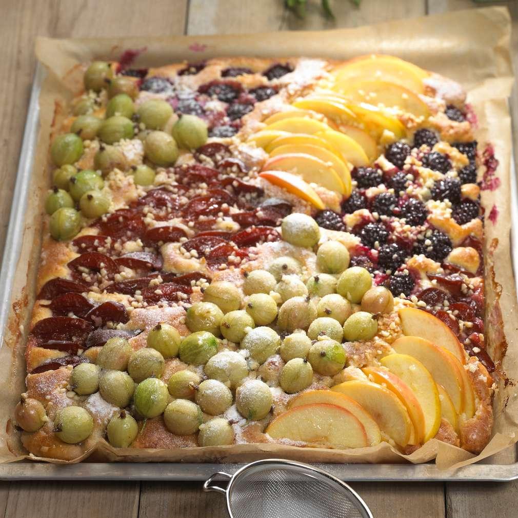 Rezept Fur Kuchen Mit Viererlei Versunkenen Fruchten Kaufland