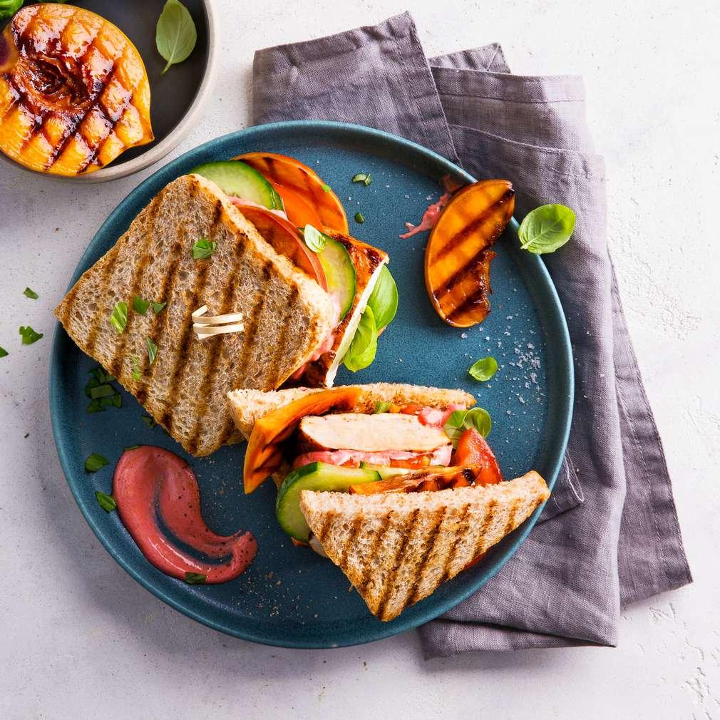 Abbildung des Rezepts Hähnchen-Barbecue-Sandwich