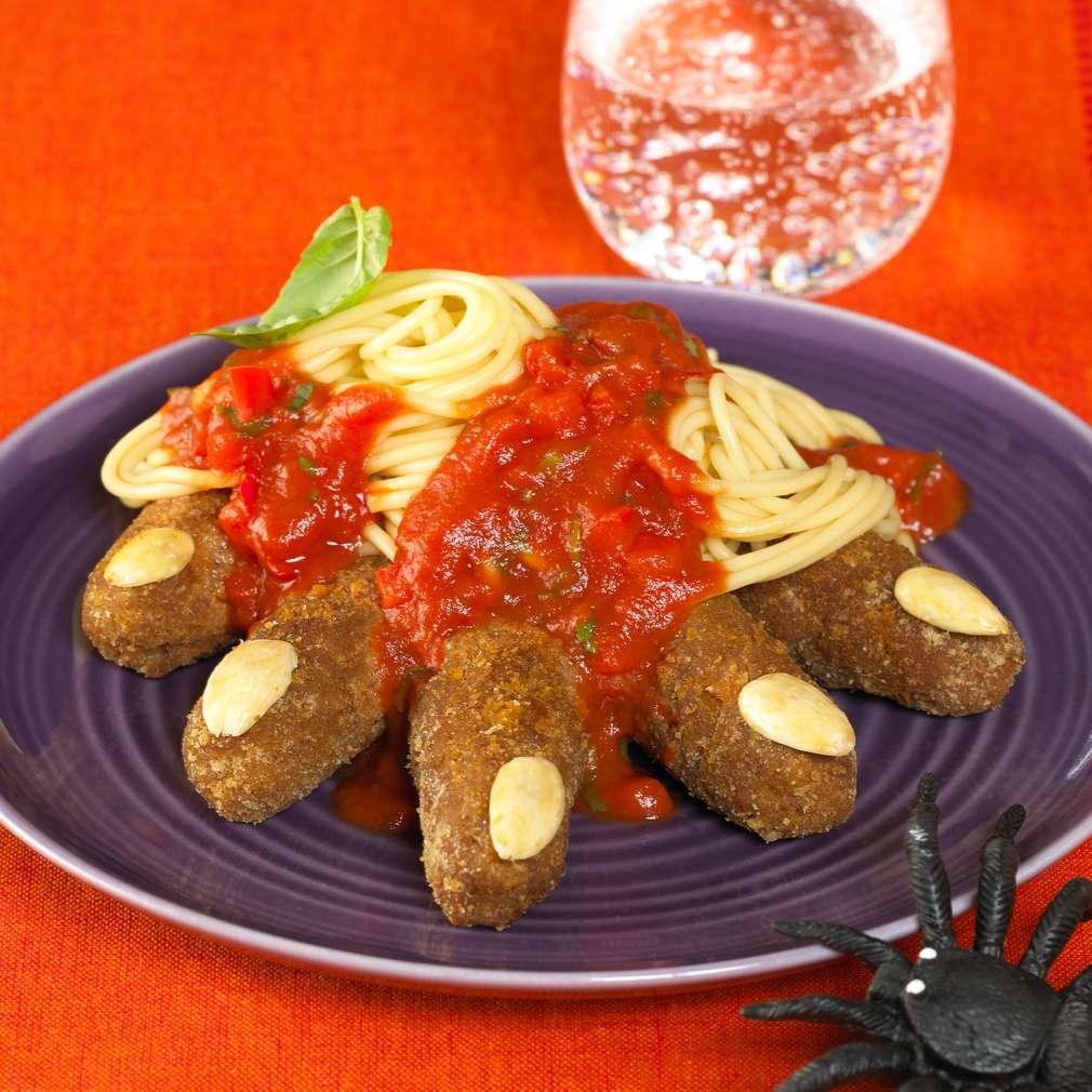 Zobrazit Strašidelné špagety pro děti receptů