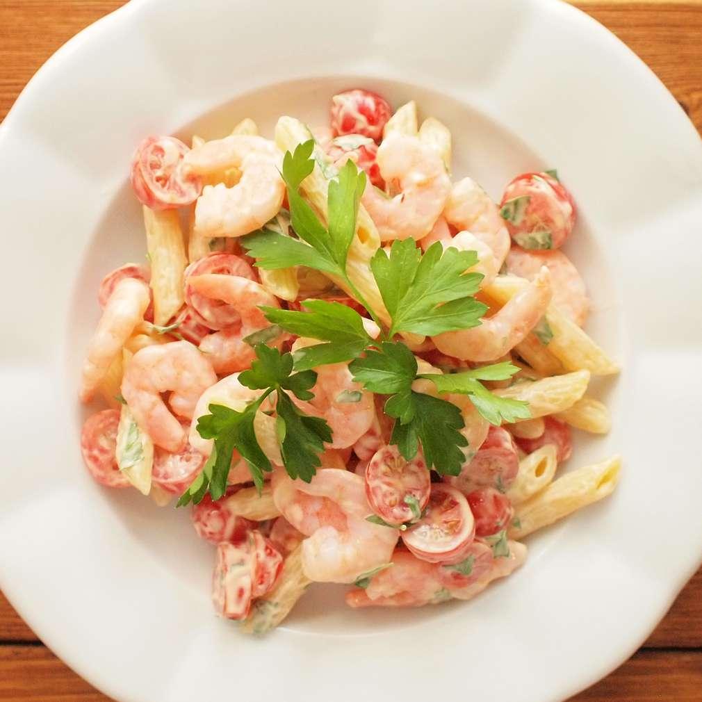Zobrazit Krevetový těstovinový salát receptů