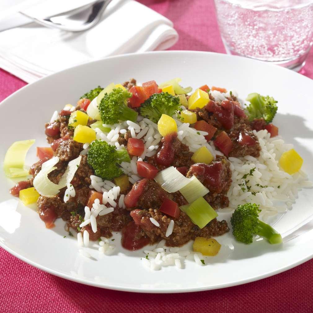 Zobrazit Hovězí ragú se zeleninou a rýží receptů