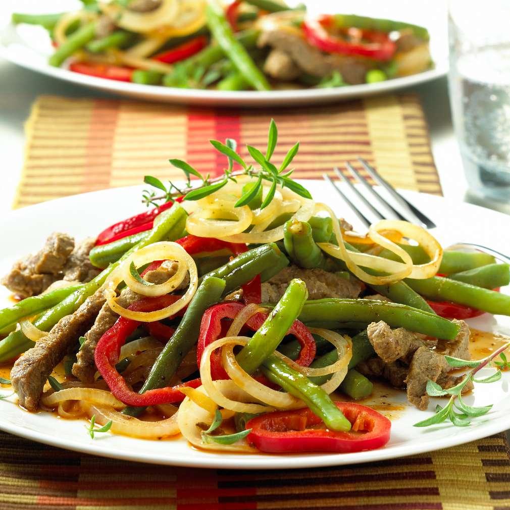 Abbildung des Rezepts Bohnensalat mit Rindfleischstreifen
