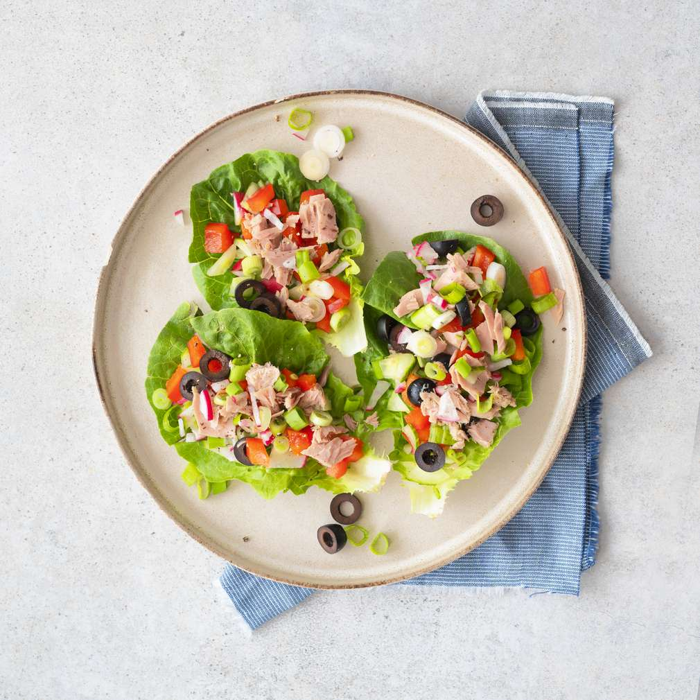 Zobrazit Salátové wrapy s tuňákem receptů