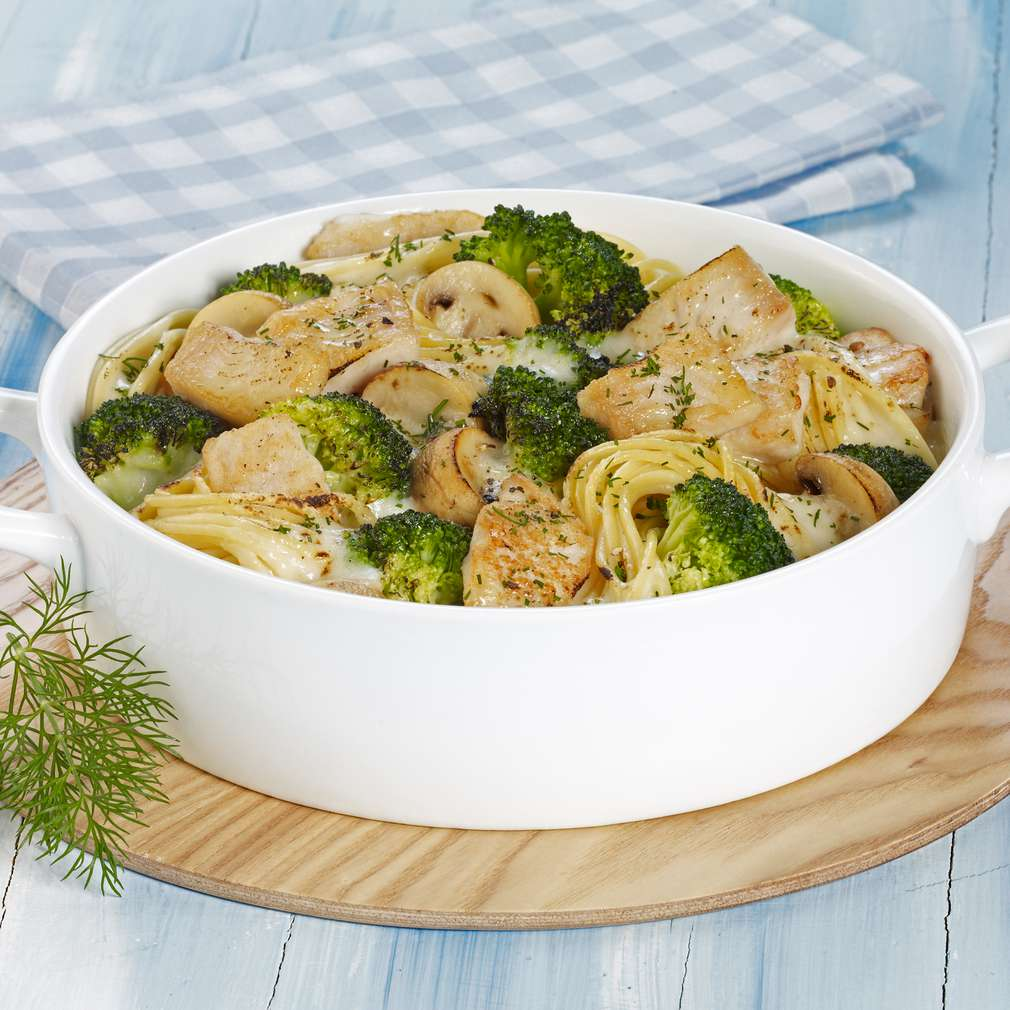 Abbildung des Rezepts Pangasius-Spaghetti-Gratin