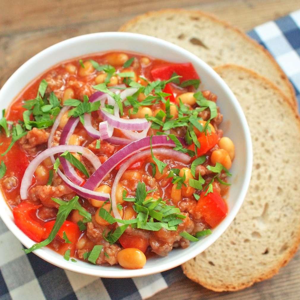 Zobrazit Chalupářské fazole s mletým masem receptů