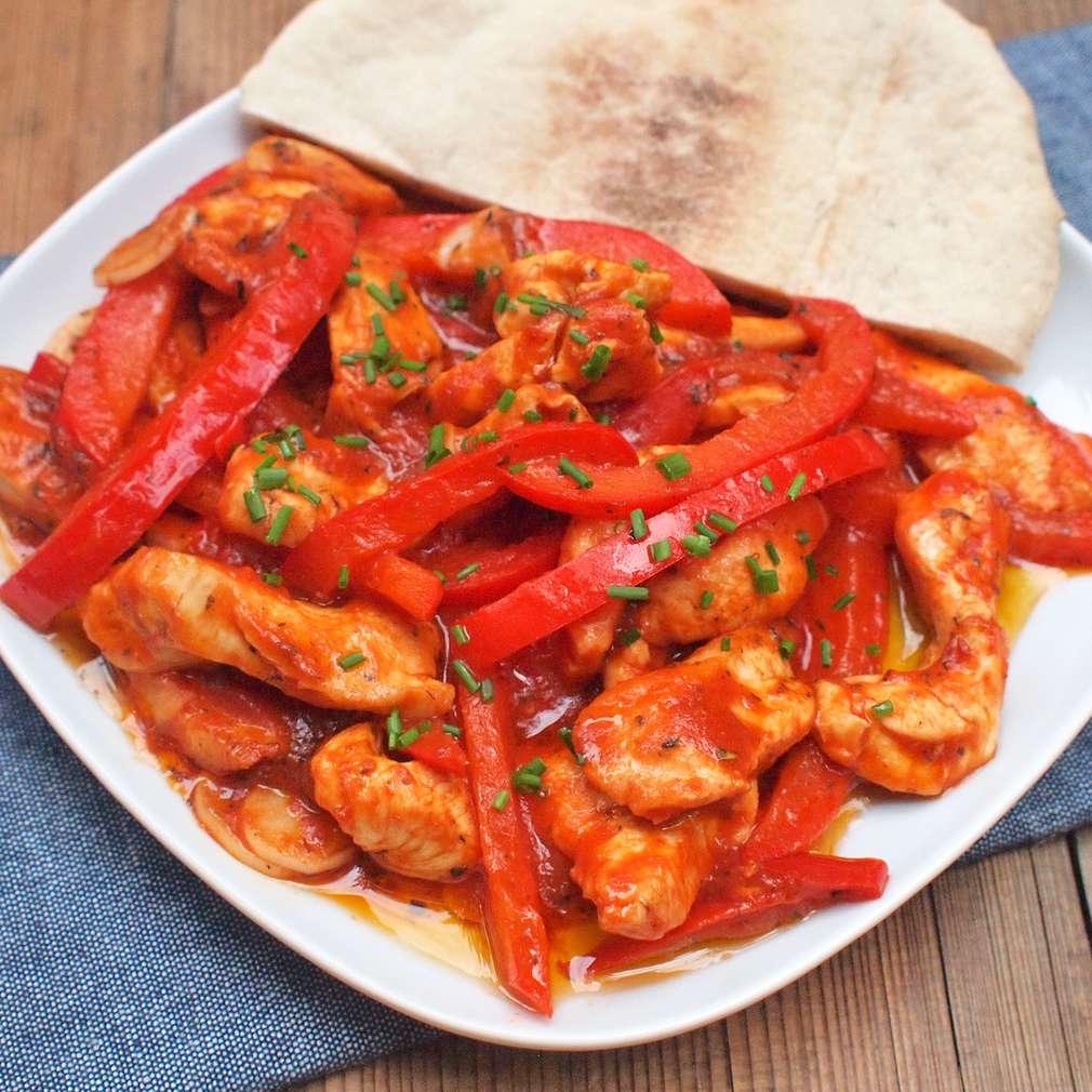 Zobrazit Kuřecí nudličky s paprikou receptů